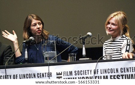 Director Sofia Coppola, Kirsten Dunst at the press conference for Marie Antoinette Press Conference-New York Film Festival, Alice Tully Hall at Lincoln Center, New York, October 13, 2006 - stock photo