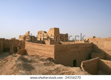 Diriyah - old city near Riyadh (Saudi Arabia) - stock photo