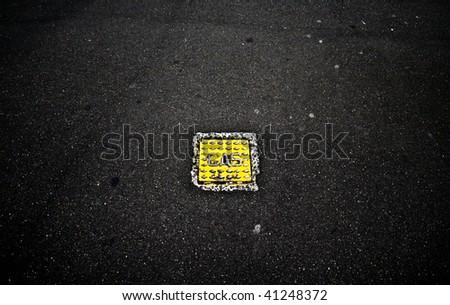 Dirt, Grunge Asphalt - stock photo