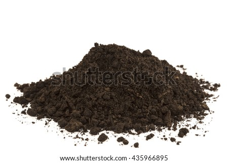 Dirt heap isolated on white
