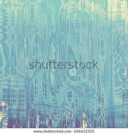 Dirty and weathered old textured background. With different color patterns: blue; purple (violet); cyan - stock photo
