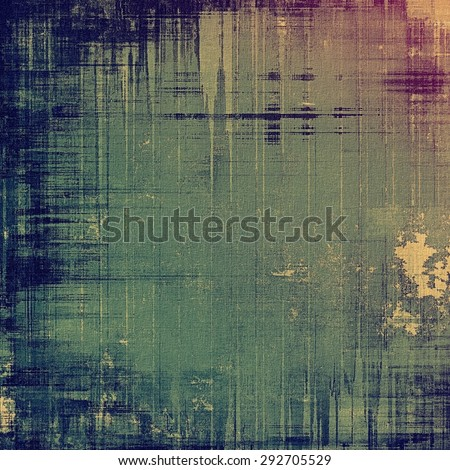 Dirty and weathered old textured background. With different color patterns: brown; green; blue; purple (violet) - stock photo