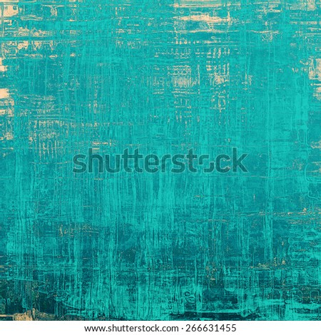 Dirty and weathered old textured background. With different color patterns: yellow (beige); blue; cyan - stock photo