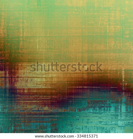 Dirty and weathered old textured background. With different color patterns: yellow (beige); brown; green; blue - stock photo