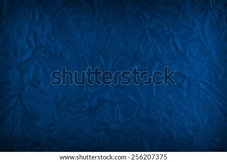 Dirty blue leather texture - stock photo