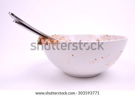 Dirty Bowl - stock photo