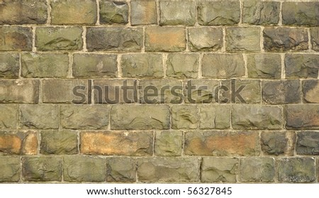 Dirty Brick Wall Background - stock photo