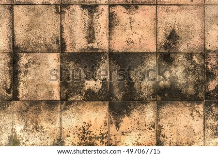 Dirty brown tiles pattern