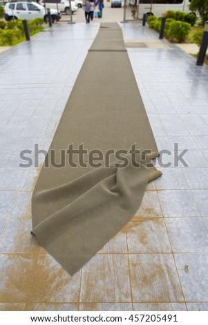 dirty carpets - stock photo