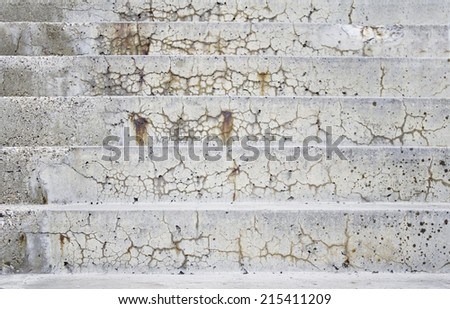 Dirty cement stairs urban building - stock photo