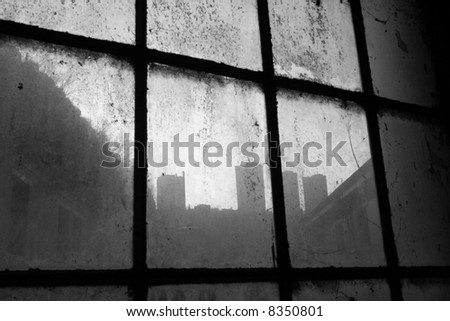 Dirty city - stock photo