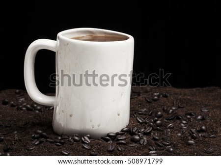 dirty coffee cup
