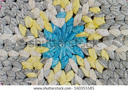 Dirty colorful cloth to wipe your feet - stock photo