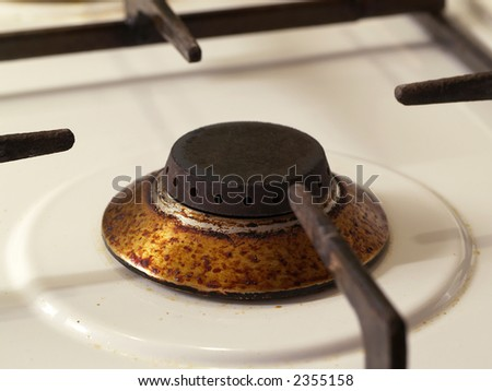 Dirty Cooker - stock photo