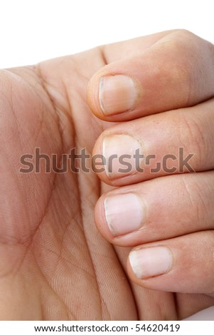 Dirty fingers - stock photo
