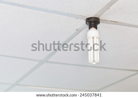 Dirty Fluorescent Lamp - stock photo