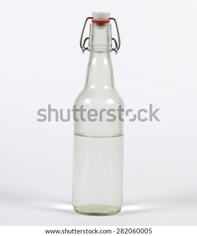 Dirty Glass Bottle  - stock photo