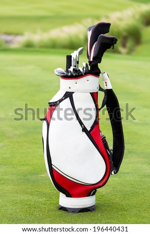 Dirty golf clubs  - stock photo