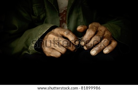 Dirty hands - stock photo