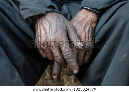 Dirty Hands of a steam locomotive driver