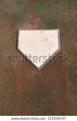 Dirty Home Plate on Practice Turf