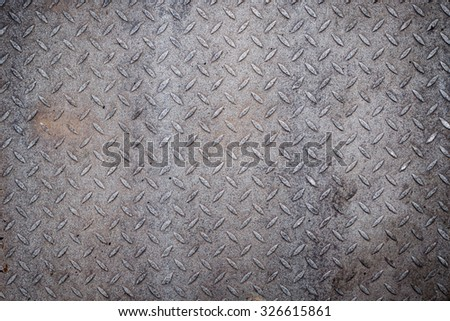 Dirty metal diamond grip pattern texture - stock photo