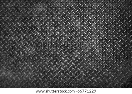 dirty metal plate - stock photo