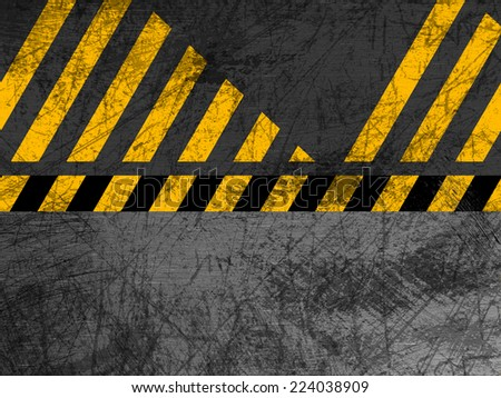 Dirty metal texture - Industrial - Warning