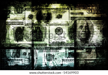 Dirty Money Crime and Corruption of Wealth - stock photo