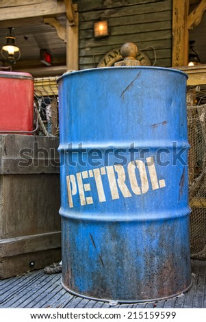 dirty oil petroleum barrel drum
