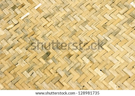 dirty old wicker Woven background - stock photo