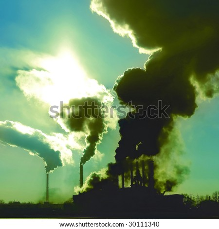 Dirty plant's air - stock photo