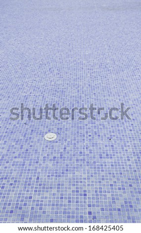 Dirty pool with autumn leaves in winter, water - stock photo
