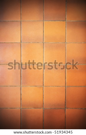 dirty red tile background - stock photo
