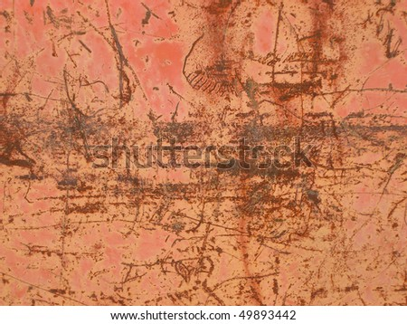 Dirty, rusty, distressed, industrial, background - stock photo