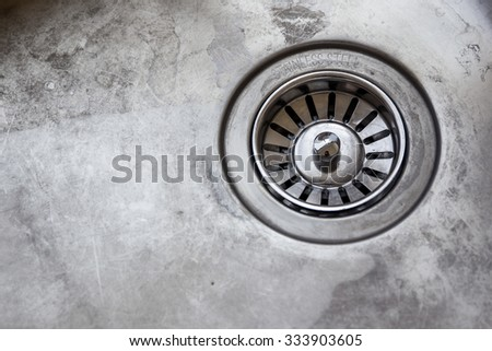 Dirty sink. - stock photo