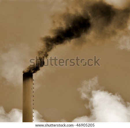 Dirty smoke. Pollution concept. - stock photo