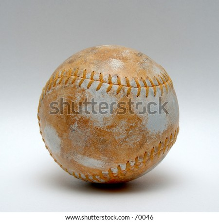 Dirty Softball - stock photo