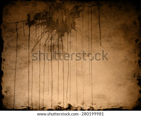 dirty spot on paper - stock photo