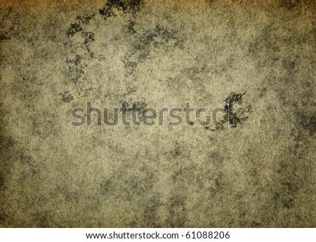Dirty stained textured recycled paper grunge background - stock photo