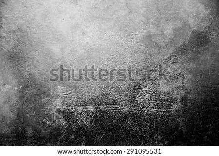 dirty vintage cement texture in grey, black and white tone - stock photo