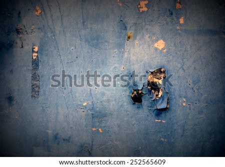 Dirty, vintage, grunge wall in blue color