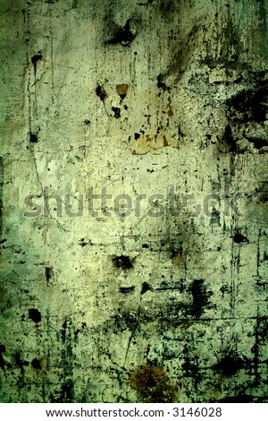 dirty wall in a deserted industrial building - stock photo