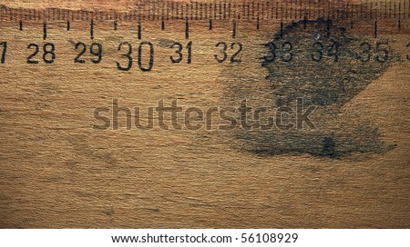 Dirty wooden Ruler