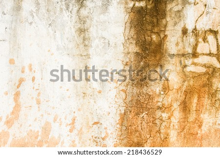 Dirty worn concrete wall - stock photo