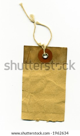 dirty worn label - stock photo