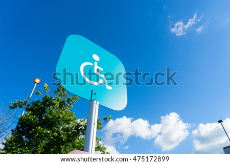Disability sign parking outdoor