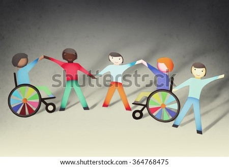 Disabled. - stock photo
