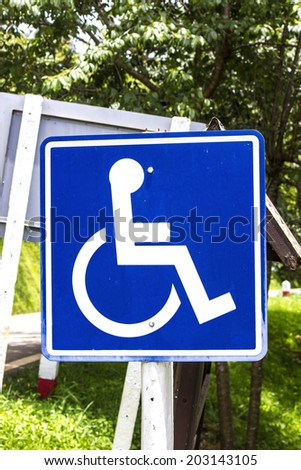 Disabled Handicap Icon - stock photo