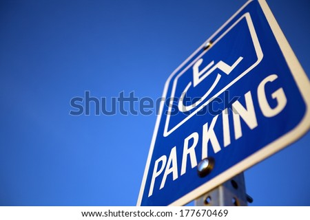 Disabled Handicapped Parking Sign - stock photo